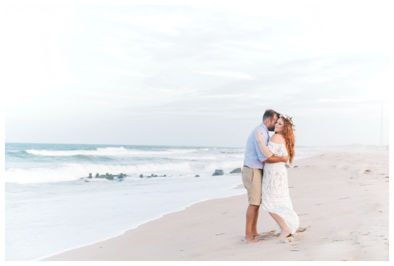 Jersey shore engagement session